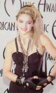Madonna wins the 'Female Favourite' award at the American Music Awards, January 1985