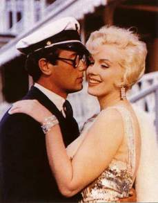 Image result for tony curtis and marilyn in some like it hot