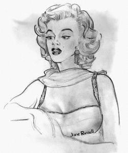 Jane Russell's portrait of Marilyn