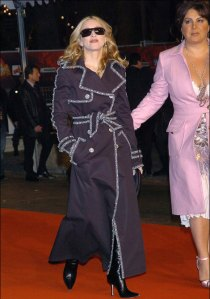 Caresse Henry with Madonna in January 2004