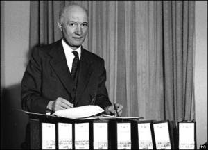 Lord Denning compiles his report on the scandal