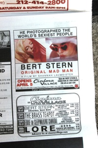 Newspaper ad for the film at Cinema Village