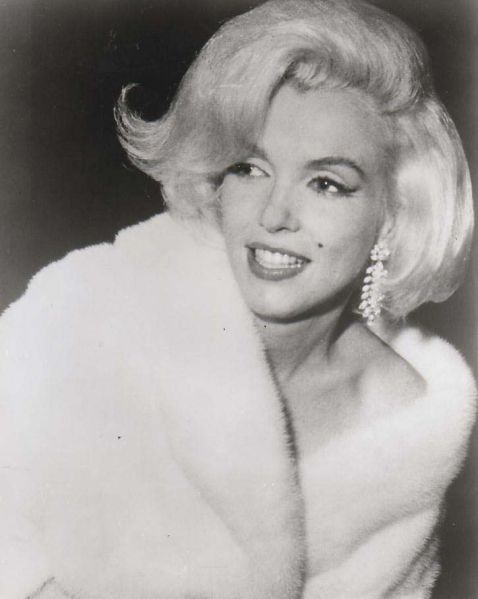 Marilyn Monroe, styled by Kenneth for her appearance at the JFK birthday gala in 1962
