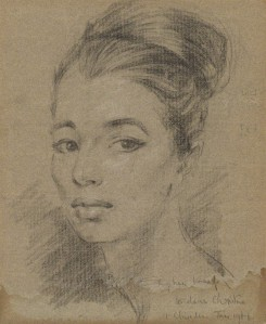 Christine Keeler by Stephen Ward, pastel, 1960 or 1961
