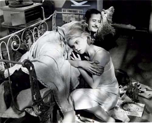 With Carroll Baker in 'Baby Doll' (1956)