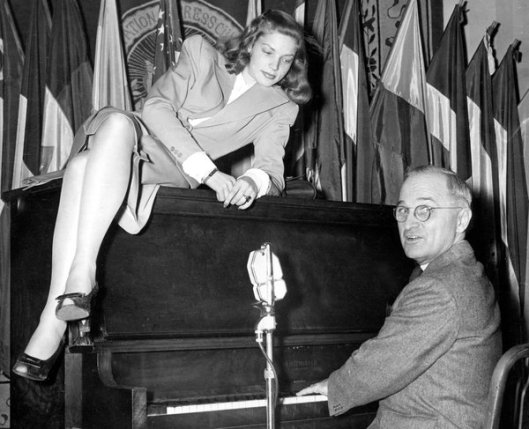 Bacall with Harry S. Truman
