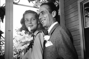 The Bogarts on their wedding day