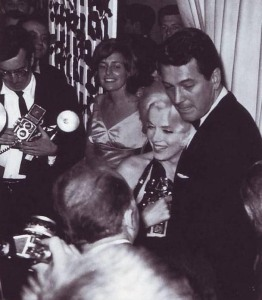 Pat with Marilyn and Rock Hudson