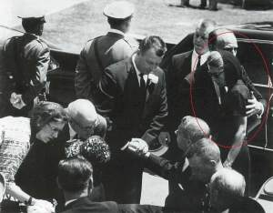 At Marilyn's funeral, August 1962