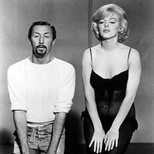 Jack Cole coaches Marilyn Monroe during rehearsals for 'Let's Make Love' (1960)