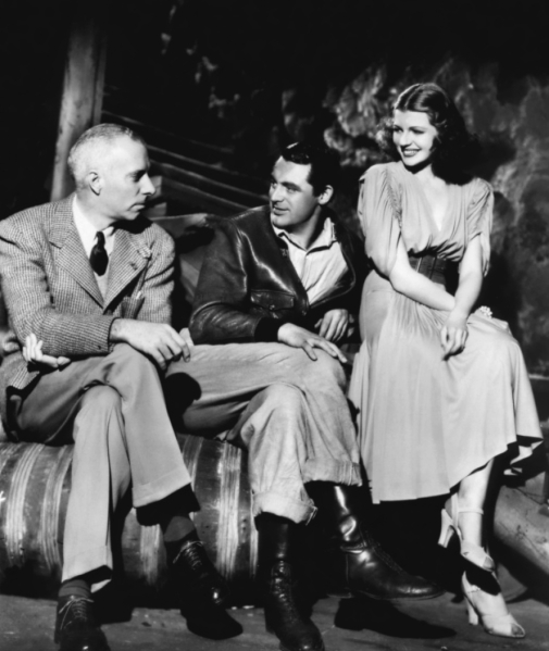 On the set of 'Only Angels Have Wings', with Howard Hawks and Cary Grant