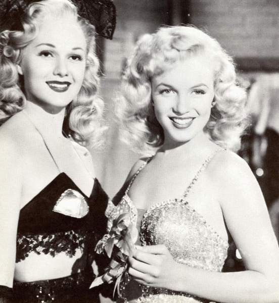 With Adele Jergens in 'Ladies of the Chorus'