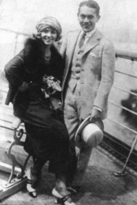 With husband Jack Pickford