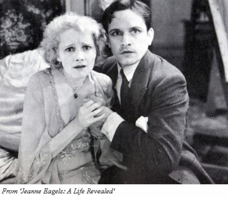 Jeanne Eagels with Fredric March in her final movie, 'Jealousy' (1929)
