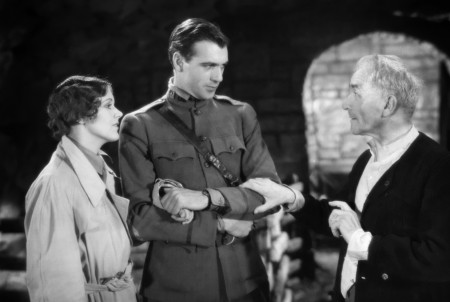 Émile Chautard (right) with June Collyer and Gary Cooper in 'A Man From Wyoming' (1930)