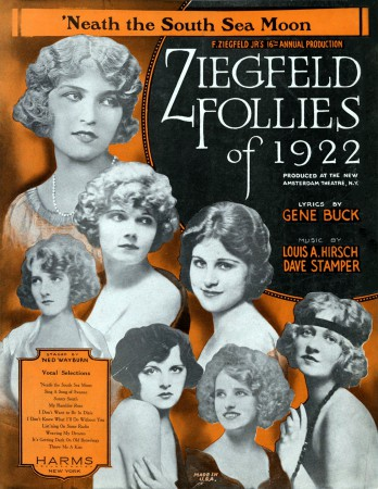 Ziegfeld Sheet Music - Ziegfeld Follies of 1922 ('Neath The South Sea Moon)