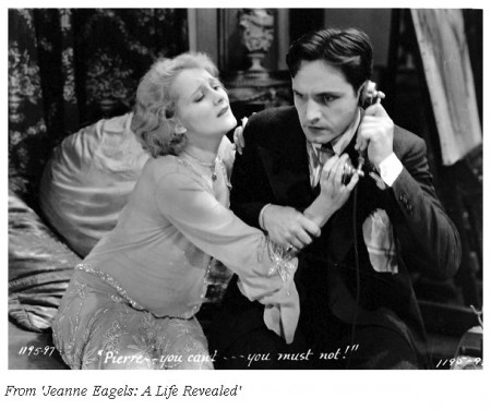 Jeanne Eagels with Fredric March in 'Jealousy'
