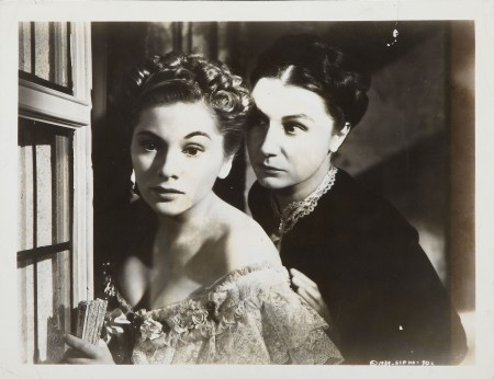 Joan Fontaine with Judith Anderson in 'Rebecca' (1940)