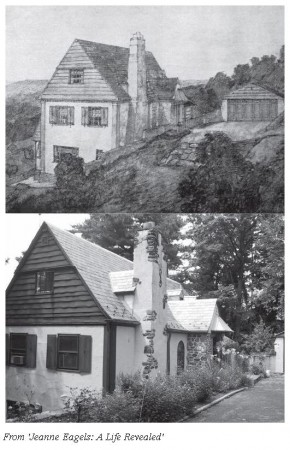 Illustration of Jeanne Eagels' Cedar Lane home in Ossining, New York, where Judith Anderson visited her in 1929. Almost 90 years later, the exterior remains unchanged (photo courtesy of John Deuel)