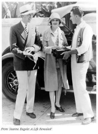 Monta Bell with Jeanne Eagels and John Gilbert, 1927