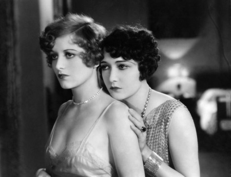 A young Joan Crawford (left) with Dorothy Sebastian in 'Our Dancing Daughters' (1928)