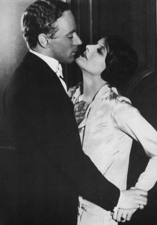 With Katherine Cornell in 'The Green Hat' (1925)