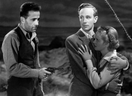 With Humphrey Bogart and Bette Davis in 'The Petrified Forest' (1936)