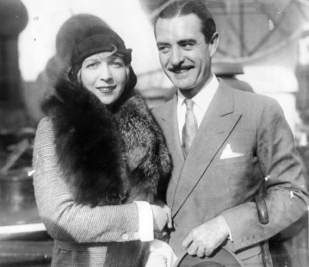 Gilbert with his third wife, Ina Claire