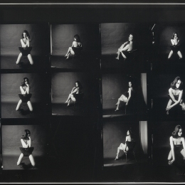 Contact sheet by Lewis Morley, 1963